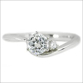 (0.4ct)(Eカラー)(VVS1)(EXCELLENT)(H&C)(3EX)(婚約指輪、エンゲージリング、ダイヤモンド、リング、ネックレス)
