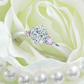 ダイヤモンド婚約指輪 サイズ直し一回無料 0.25ct D VVS2 EXCELLENT H&C 3EX 両サイドメレ6本爪 プラチナ Pt900 婚約指輪(エンゲージリング)