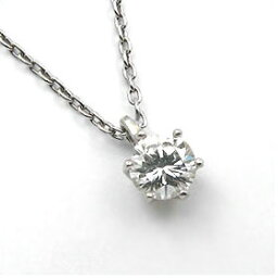 鑑定書付きネックレス ダイヤモンド 0.5ct F VVS2 EXCELLENT H&C 3EX 丸アズキ プラチナ Pt900/Pt850