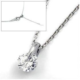 鑑定書付きネックレス ダイヤモンド 0.4ct F VS1 EXCELLENT H&C 3EX 丸アズキ プラチナ Pt900/Pt850