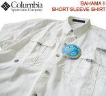 コロンビア★Columbia【バハマIIショートスリーブシャツ】フィッシングシャツ/ドライナイロンシャツFM7047100/ホワイト