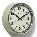 RETRO WALL CLOCK SAGE GREEN (レトロ ウォール クロック セージグリーン) S426-207SGN 【ポイント3倍】 【AS】の写真