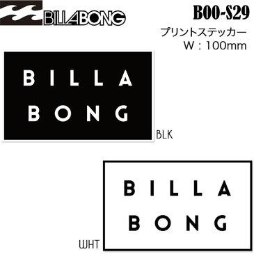 Billabong ビラボン プリントシールステッカー boos29 幅100mm サーフステッカー アウトドアステッカー 【あす楽対応】
