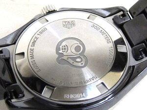 未使用TAGHEUERタグホイヤー■WAY1390アクアレーサーセラミッククォーツ時計▼ブラックボーイズ