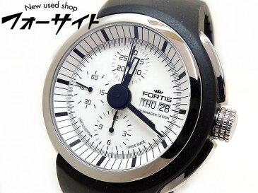 美品 FORTIS×VOLKSWAGEN フォルティス×フォルクスワーゲン☆661.20.141 スペースリーダー 自動巻き メンズ 時計▼SS×シリコンブレス 30S
