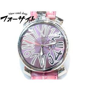 Gaga Milano ■Manuele Slim 46MM 5084 Pink x Stainless Steel ■Quartz watch Manuale 2C