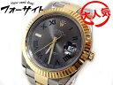 ロレックス ROLEX デイトジャスト 2■ 116333 V品番 グリーンローマン(グレー)□ メンズ 時計 コンビ デイトジャスト2 自動巻き 2K