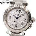 Cartier☆カルティエ W31078M7 パシャC メリディアン GMT 時計 ボーイズ 男女兼用 ステンレス 自動巻き