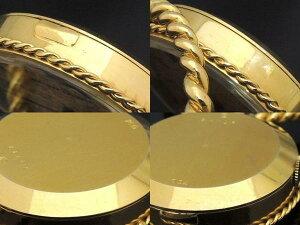 3Fヴァンクリーフ&アーペル■K18YG手巻き式置き時計◎