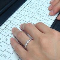 【お得な2本セット価格/送料無料】人気のホワイトゴールドダイヤペアリング【刻印・文字彫り無料】結婚指輪・マリッジリング・記念日・ギフト