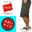 大きいサイズ カーゴパンツ メンズ ハーフパンツ ヘインズ HANES イージーパンツ太め 大きい 夏 ハーフ丈 カーゴショーツ【あす楽】6425