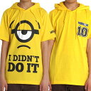 ミニオン メンズ パーカー プルパーカー ミニオンズ MINIONS tシャツ 生地 半袖 M L LL 夏 ゆったり 送料無料 キャラクター c6830z c6831zの商品画像