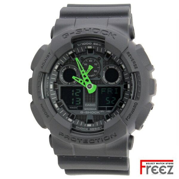 腕時計, メンズ腕時計 CASIO G-SHOCK BLACKGREEN GA-100C-1A3