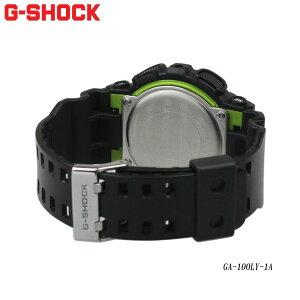 CASIO/G-SHOCK/時計/メンズ腕時計/GA-100LY-1A/ライム/カモ
