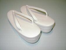 花嫁用白草履三段L寸化粧箱入り