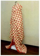 新商品赤ふくれ織市松柄掛下【受注生産・お届けまで約1ヶ月です】[代引き不可]
