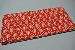 新商品当店オリジナル掛下帯赤色流行の麻の葉柄[受注生産・お届けまで約1ヶ月]