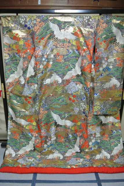 No.222 豪華絢爛 色打掛 有名デザイナー ブランド品 美品 [裄65、袖丈105、身丈(肩から)190センチ] 【中古】