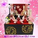 雛人形 収納飾り うさぎのお雛様 送料無料 2018紫桜?Shion? 桃の節句 花の宵 五人収納飾り8054M-10