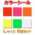 カラーシール 【Lサイズ】【人気カラー6色セット】 コンサートうちわ 応援うちわ 手作りうちわ オーダーメイド 手作り