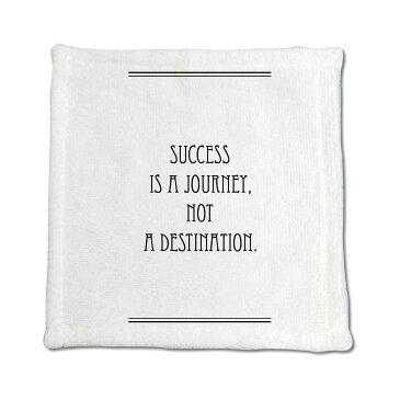 英語 名言 グッズ ハンドタオル SUCCESS IS A JOURNEY … 122【ライン】200mm×200mm ミニタオル オリジナル おすすめ かっこいい【ポジティブグッズ】