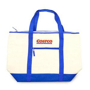 costco 大型 トートバッグ ブルー エコバッグ たっぷりサイズ ピクニック BBQ 縦横兼用型 保冷...