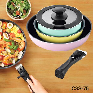 おすすめ キッチンウェア 5点セット CSS-75 フライパンセット 3色 5点セット コロセレ