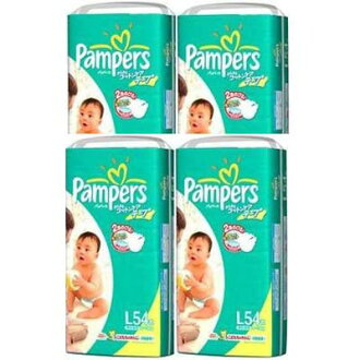 ★ paper diaper pants pampers /Pampers ★ パンパースコットンケア tape type L54-4 pieces