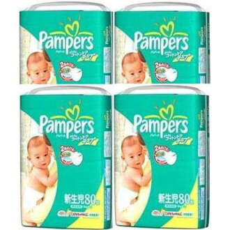 ★ paper diaper pants pampers /Pampers ★ パンパースコットンケア tape type newborn 80-4 pieces