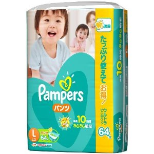 Pampers dry ケアパンツ ultra Jumbo Pack L 64 x 3 (192 photos)