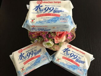 Akachan water 99% know wipes 100 pieces x 3 pieces