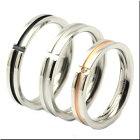 誓いの十字架クロスホワイト&K18ピンクゴールドコートティング/天然ダイヤモンド0.01ctクロスステンレスペアリング316L/マリッジリング結婚指輪/ペア価格/ペアリング/ケース付き[R1099BK_00P]