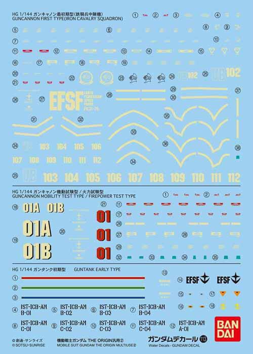 ホビー工具・材料, デカール No.113 HG 1144 THE ORIGIN2