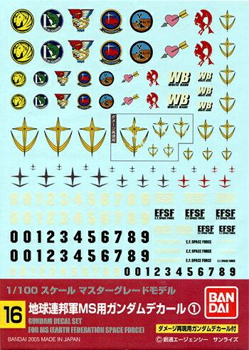 ホビー工具・材料, デカール No.16 1100 MG MS1