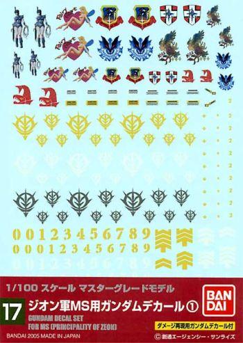 ホビー工具・材料, デカール No.17 1100 MG MS1
