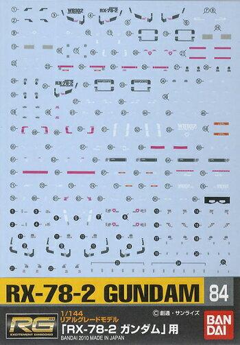 ホビー工具・材料, デカール No.84 1144 RG RX-78-2