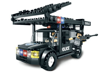 【AFM ミリタリーブロックシリーズ】AFM SWAT シリーズ レトリバー号 284Blocks◆スワットチーム/特殊部隊/警察/特殊車両