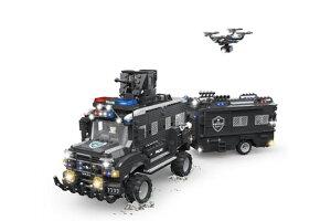 AFM SWAT シリーズ ジュラシックダイナソー号 1633Blocks◆装甲車両 特殊部隊 スワット 大型車両 ブロック 模型モデル 警察部隊 組み立て 特殊車両 トラック