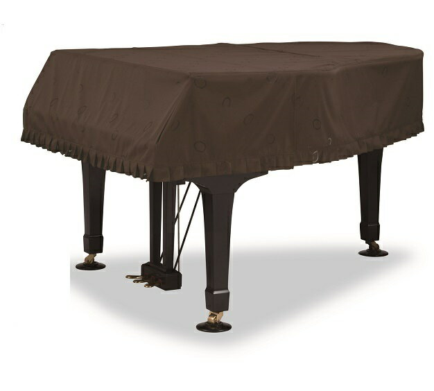 グランドピアノカバー GP-732DB  ダークブラウン 茶色 音符・サークル柄レース ヤマハグランドピアノC1X,C1,G1用