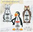 【WITTNER No.839】ウィットナー 動物 メトロノーム (ネコ・ペンギン・フクロウ)【振り子式】