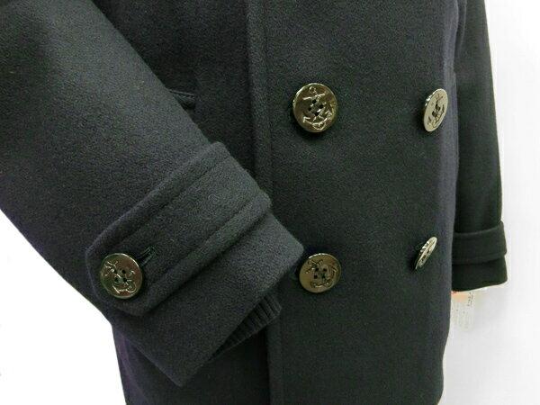 【送料無料】スクールコート★KURI-ORI(クリオリ)メリノウール混制服ピーコート(濃紺/チャコールグレー)