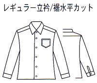 男子用スクールシャツ形態安定・サックス・裾水平カット・長袖・半袖S〜4L【ベンクーガー】