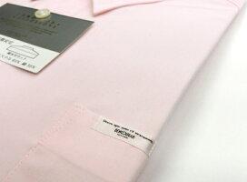 男子スクールシャツピンク・形態安定・裾水平カットM〜3L長袖/半袖【ベンクーガー製品・アイラブ制服別注】