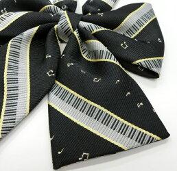 スクールリボンKURI-ORI(クリオリ)音符ブラック・音符レッド巾13【日本製】P20Feb16