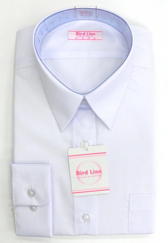 【長袖】女子用スクールブラウス【BIRD LINE(バードライン)形態安定・透け感防止・UVカット】長袖 140A~180A【ラッキーシール対応】