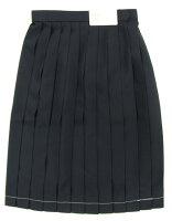セーラー服と同素材の紺スカート(W58〜78)車ヒダ24本ウォッシャブル