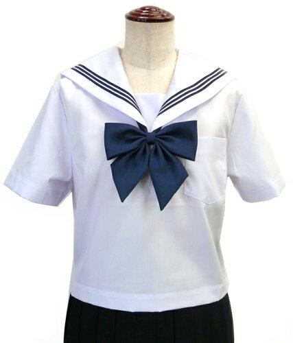 ・白(白襟・紺三本線)KURI-ORI(クリオリ)半袖・A体