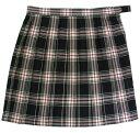 制服スカート【5347】W60〜72黒ピンクチェック柄スクールスカート【ラッキーシール対応】