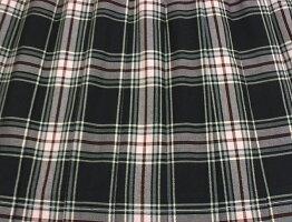 制服スカート【5347】W60〜72黒ピンクチェック柄スクールスカート