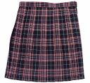 制服スカート【5333】W60〜72紺赤チェック柄スクールスカート【ラッキーシール対応】